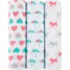 BABY EMPIRE - IDEAL BABY - ADEN ANAIS - 3 PACK - MUSLIN SWADDLES - KAIN BEDONG BAYI - PRETTY SWEET